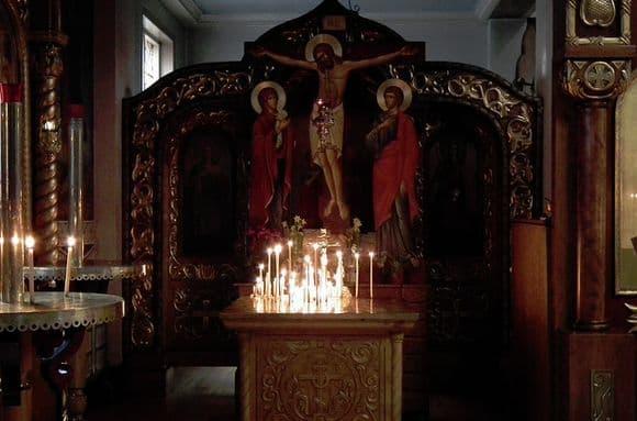 Чудотворные крест и икона Богоматери Ржевские
