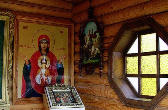 Молитва пред иконою Троеручица