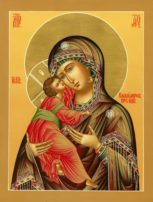 Владимирская икона Божией Матери - история написания, молитва, кондак, икос