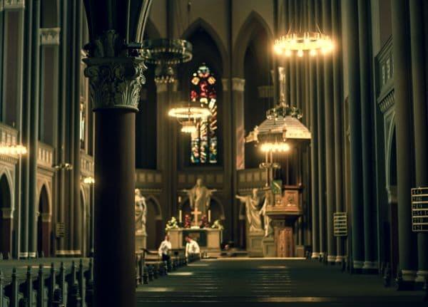 Служение в День Святого Духа с полиелеем или бдением великому святому или храмовому святому